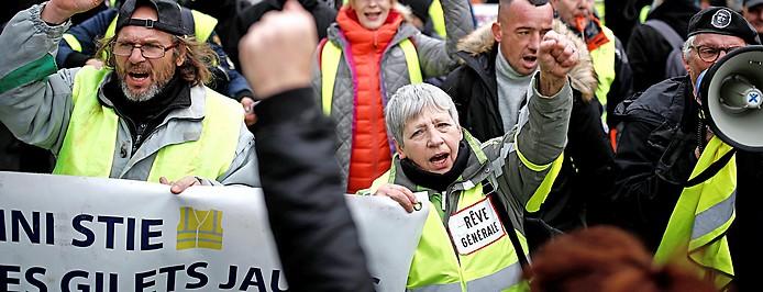 """Gelbwesten""-Demo in Paris"