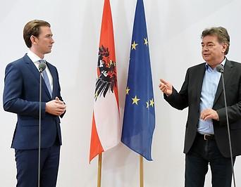 ÖVP-Chef Sebastian Kurz und Bundessprecher der Grünen Werner Kogler