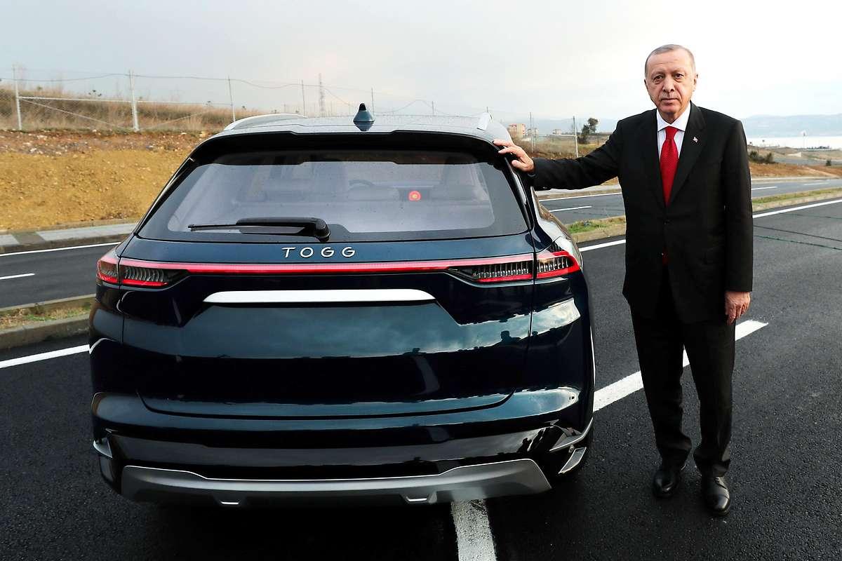 Erdogan stellte türkisches E-Auto vor