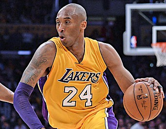 Kobe Bryant im Dress der L.A. Lakers