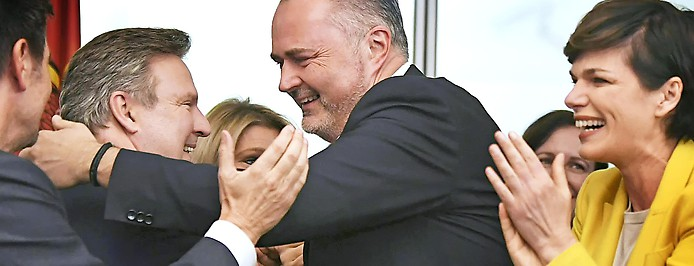Michael Ludwig, Hans-Peter Doskozil und SPÖ-Chefin Pamela Rendi-Wagner