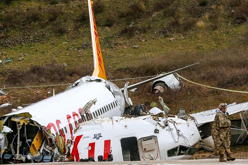 Abgestürztes Pegasus-Airline-Flugzeug