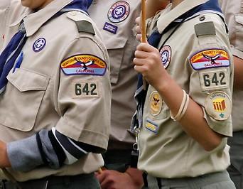 Boy Scouts bei einem Event in  Los Angeles