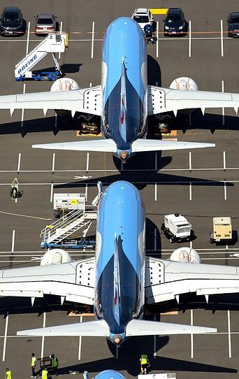 Zwei Flugzeuge des Typs Boeing 737 MAX sind in Seattle zwischengeparkt