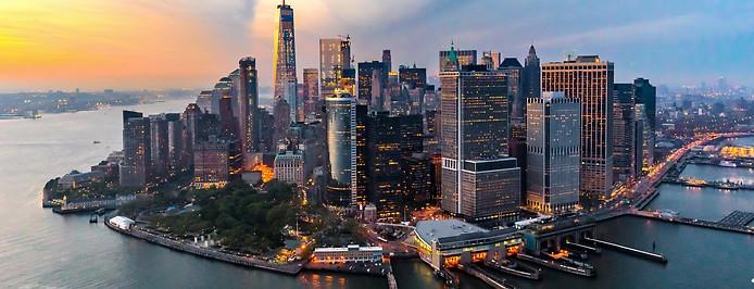 Luftbild von Lower Manhattan
