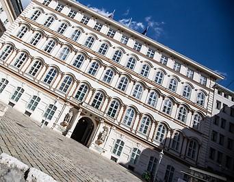 Das Bundesministerium für Europa, Integration und Äußeres (BMEIA) am Minoritenplatz in Wien
