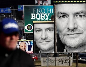 Wahlplakate in der Slowakei
