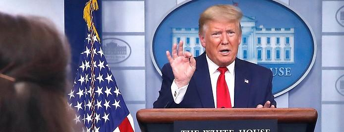 US-Präsident Donald Trump bei einer Presskonferenz