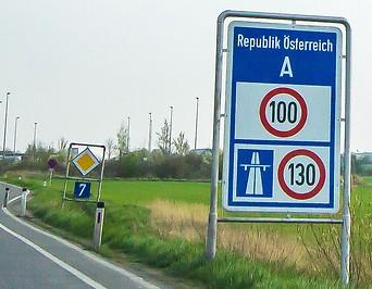 Grenzübergang zu Österreich