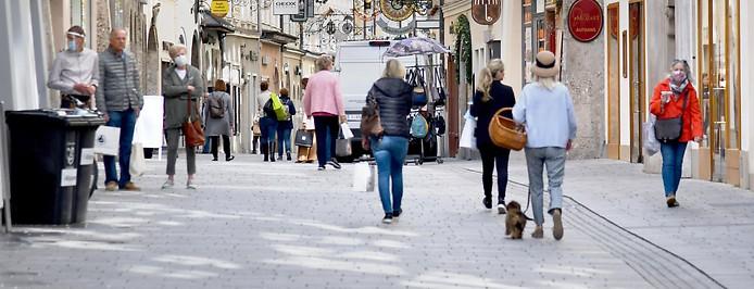Straßenszene in Salzburg