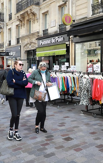 Straßenszene in Paris