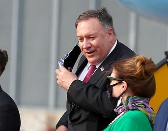 US-Außenminister Pompeo am Flughafen in Wien