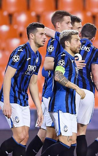 Atalanta Spieler nach dem MAtch gegen Valencia am 10. August 2020.