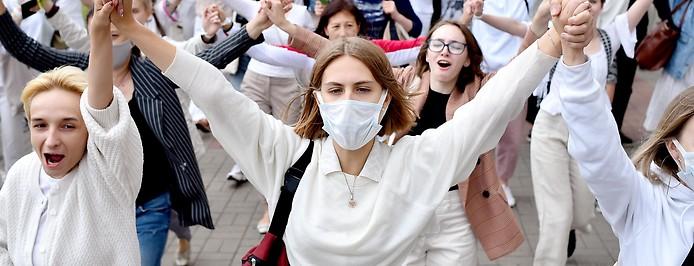 Frauen protestieren in Weißrussland