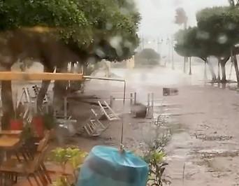 Schäden nach Strum in in Zakynthos, Griechenland