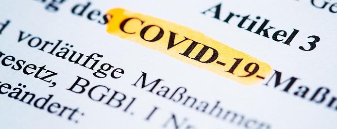 """""""COVID-19"""" markiert im Gesetzestext"""