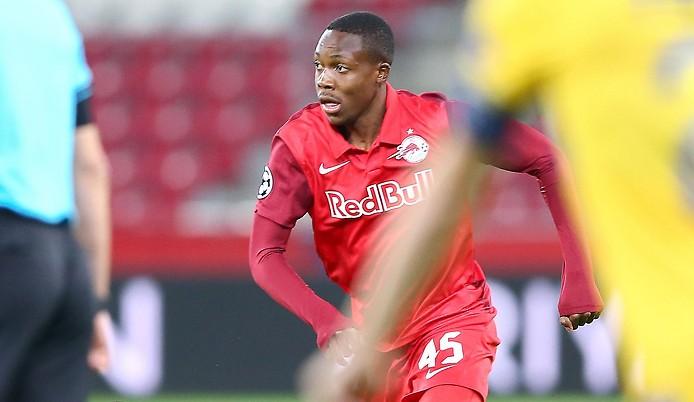 Fußballspieler Enock Mwepu (RBS)