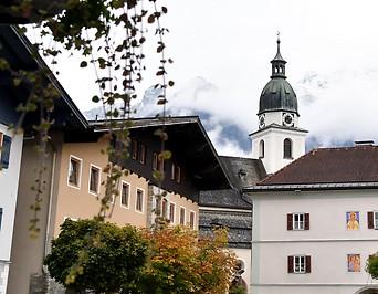 Marktplatz der Gemeinde Kuchl im Tennengau (Bezirk Hallein)