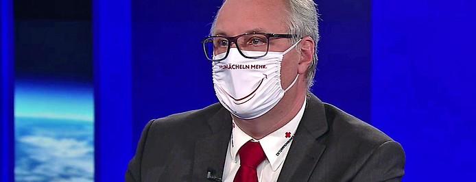Rot-Kreuz-Manager Gerry Foitik in der ZIB2