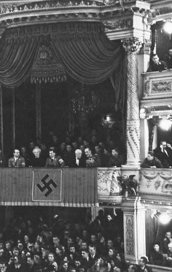 Festaufführung von Hauptmanns 'Florian Geyer' in der Wiener Burg 1942