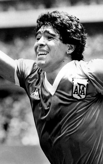 Diego Maradona jubelt, 1986
