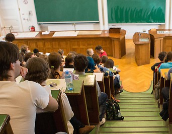 Studenten während einer Vorlesung