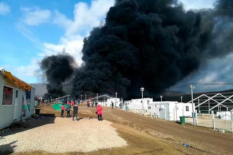Brand im bosnischen Aufnahmelager Lipa