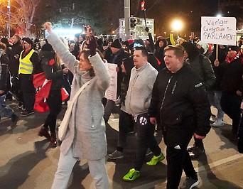 Demonstration gegen die CoV-Maßnahmen in Wien