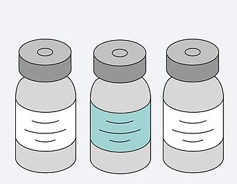 Illustration zum Thema Impfung mit verschiedenen Impfstoffen
