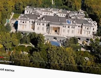 Der mutmaßliche Geheimpalast des russischen Präsidenten Wladimir Putin