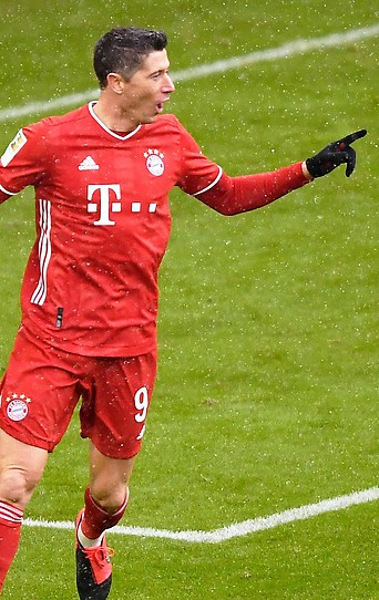 Bayern München Spieler Robert Lewandowski.