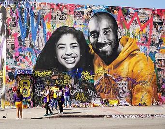 Gemälde von Kobe Bryant und seiner Tochter