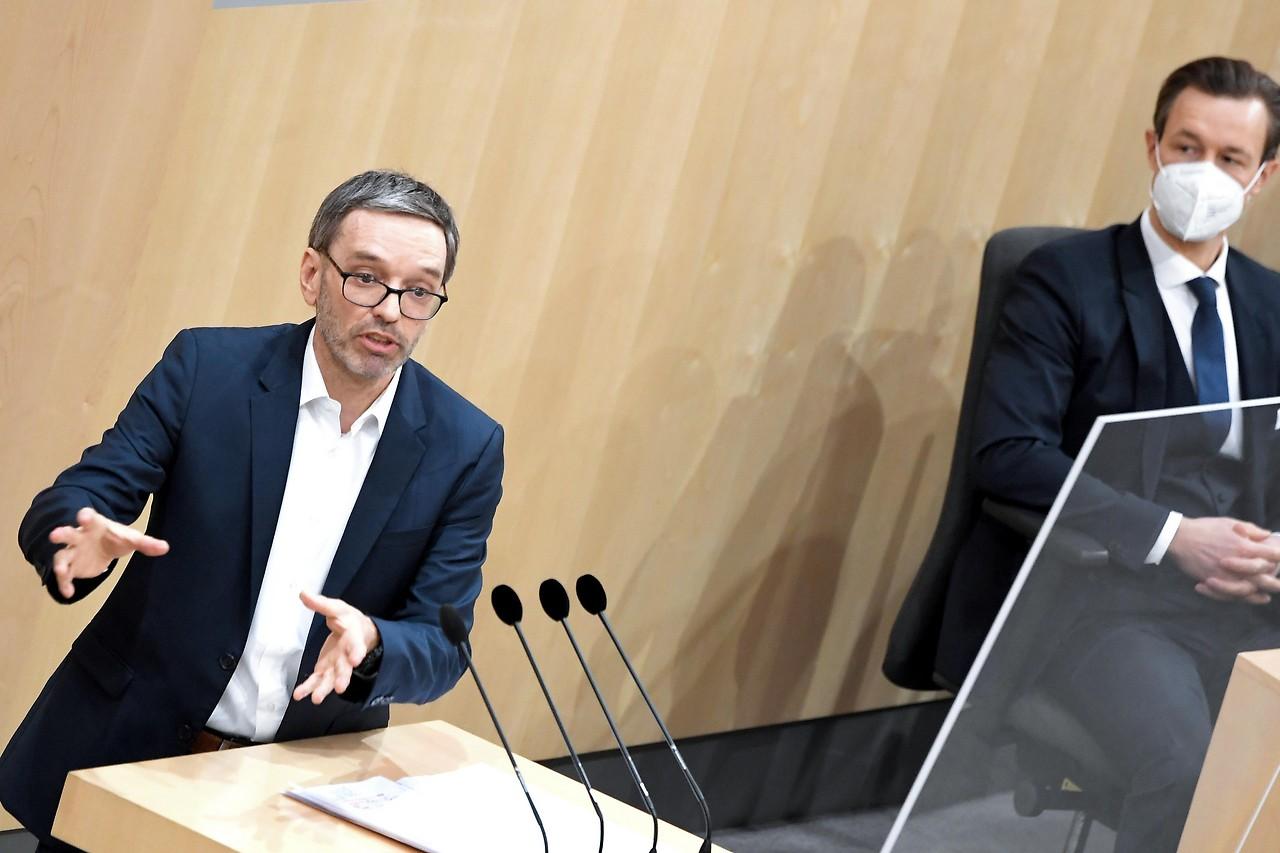 FPÖ-Klubobmann Herbert Kickl und Finanzminister Gernot Blümel