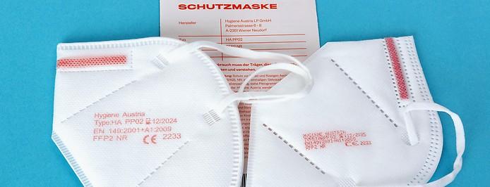 FFP2-Masken von Hygiene Austria