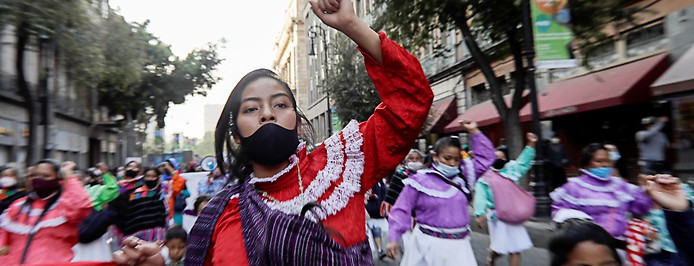 Demonstration in Mexico City