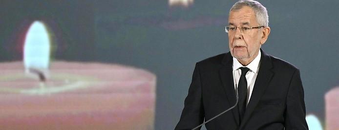 Bundespräsident Alexander van der Bellen spricht bei der Gedenkveranstaltung