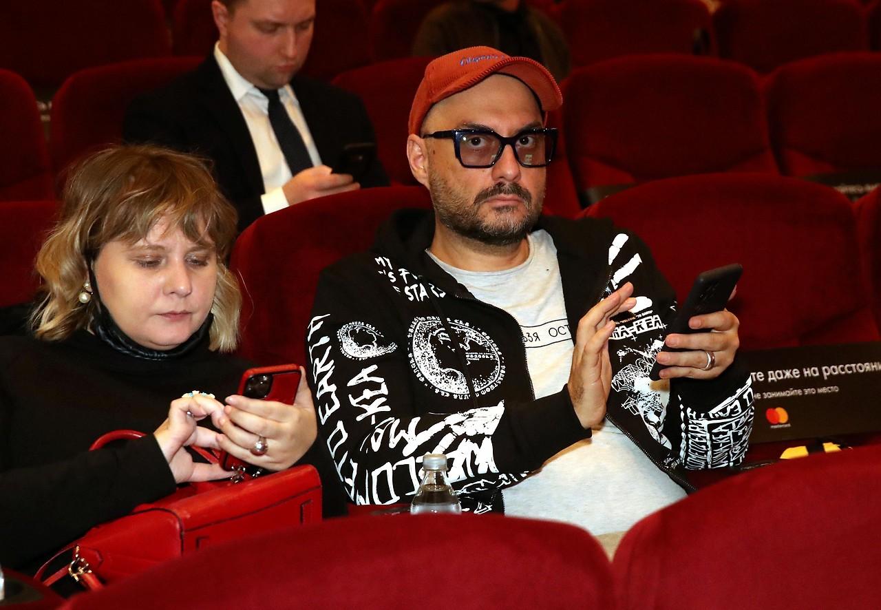 Kirill Serebrenkov en febrero de 2021 en el Teatro Gogol, Moscú