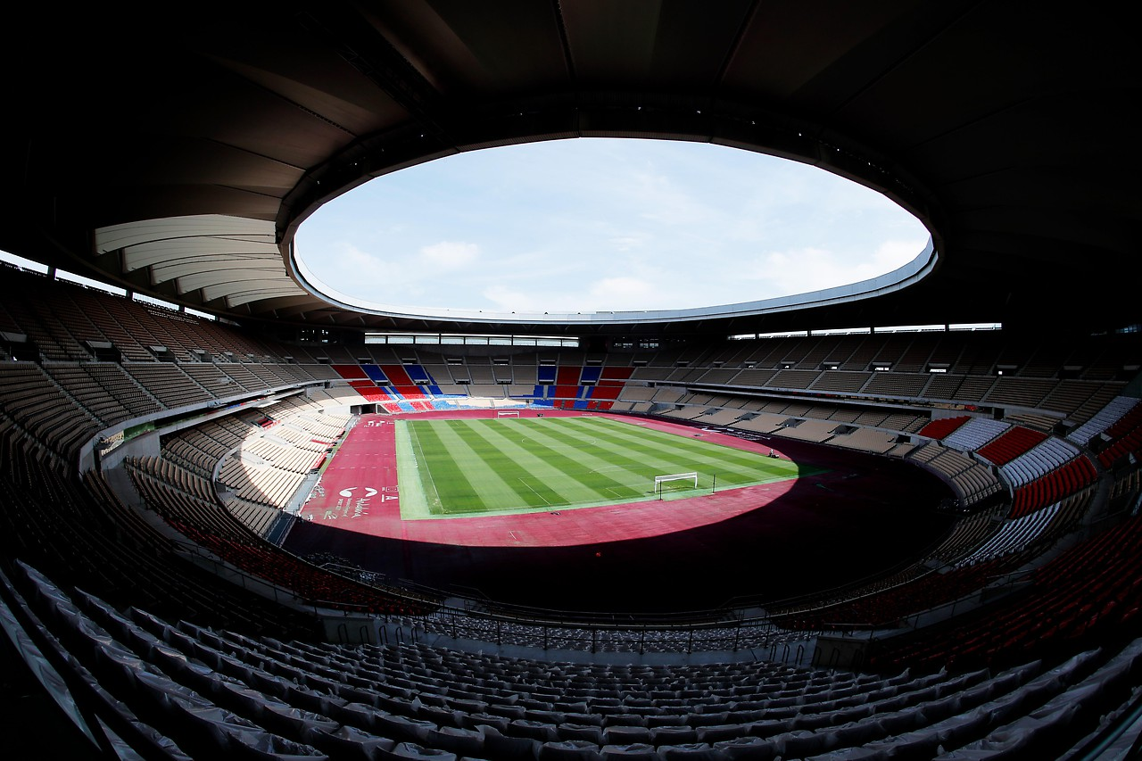 Ansicht des La Cartuja-stadion in Sevilla