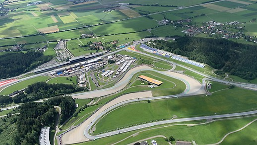 Aerial view of Spielberg-ring.