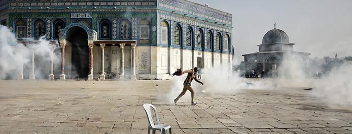 Ausschreitungen vor dem Felsendom in Jerusalem