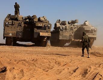 Israelische Soldaten an der Grenze zum Gaza-Streifen