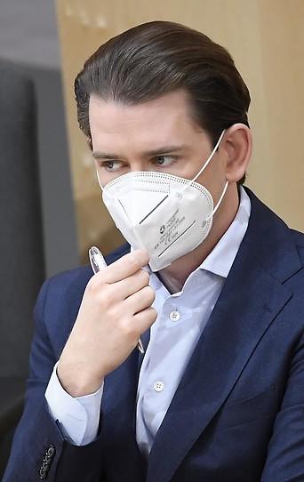Bundeskanzler Sebastian Kurz (ÖVP) mit FFP2-Maske im Nationalrat