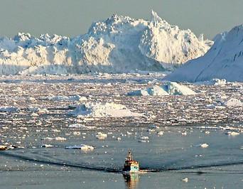Schmelzendes Eis an der Westküste Grönlands