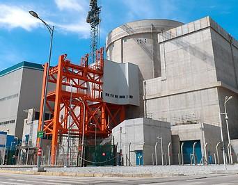 Bild zeigt das Kernkraftwerk nahe Guangdong.