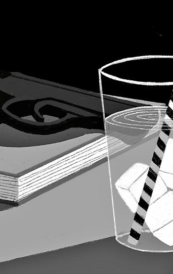 Zeichnungen von Lily Ammann zum Thema Sommer und Bücher