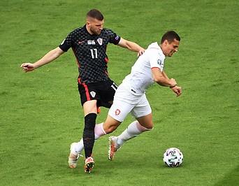 Ante Rebic (Kroatien) gegen Tomas Holes (Tschechien)
