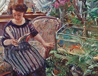 Lovis Corinth: Dame am Goldfischbassin, 1911