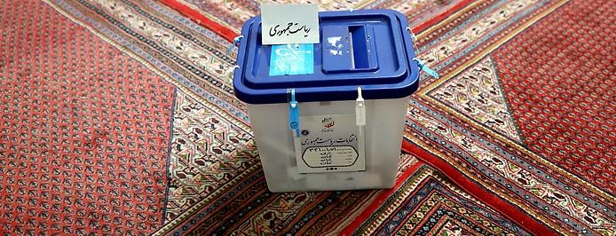 Wahlurne bei Präsidentschaftswahl im Iran