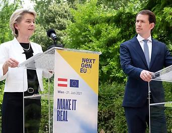 Bundeskanzler Sebastian Kurz und EU-Kommissionspräsidentin Ursula von der Leyen