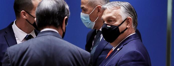 Ungarns Premierminister Viktor Orban mit dem zypriotischen Präsidenten Nicos Anastasiades